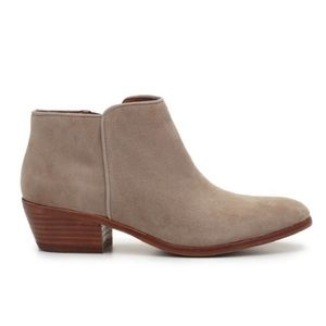 Sam Edelman Petty Suede Ankle Boots: Tan/Taupe